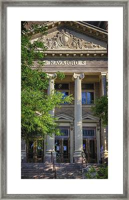 Navarro County Courthouse Framed Print by Joan Carroll