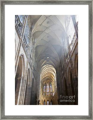 Nave Of The Cathedral Framed Print