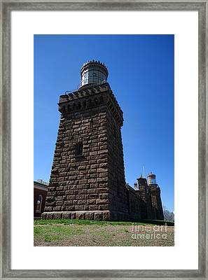 Navesink Twin Lights Framed Print by Olivier Le Queinec
