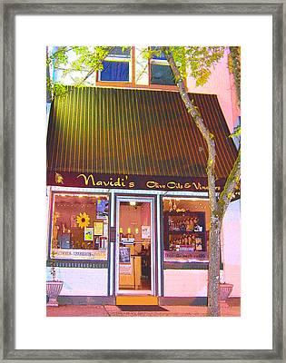 Navidi's Shop  Framed Print