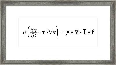 Navier-stokes Equation Framed Print by Science Photo Library