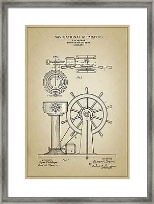 Navigational Apparatus Framed Print by Ambro Fine Art