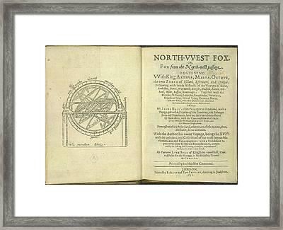 Navigational Diagram Framed Print