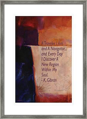 Navigator Of The Soul By Gibran Framed Print