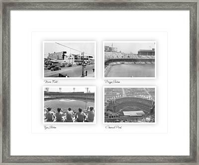 Navin Field Briggs Tiger Stadium Comerica Park Framed Print by John Farr