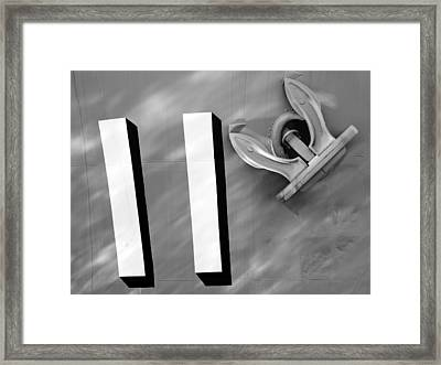 Framed Print featuring the photograph Navy 11 by Sandro Rossi