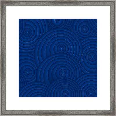 Navy Blue Abstract Framed Print by Frank Tschakert
