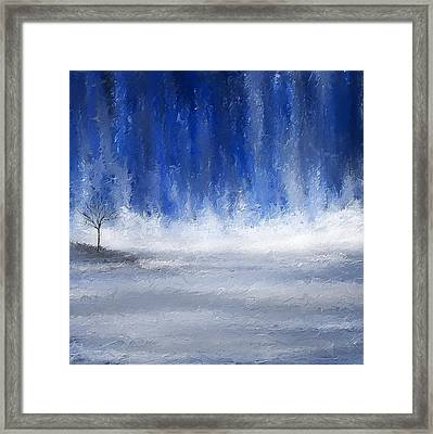 Navy Blue Art Framed Print