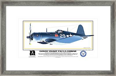 Navy Corsair 29 Framed Print