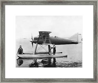 Navy Curtis Seaplane Racer Framed Print by Underwood Archives