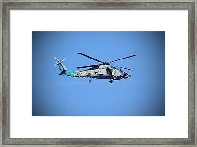 Navy Jaguar Helicopter Framed Print