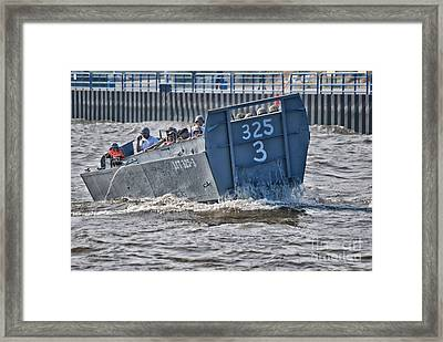 Navy Landing Craft 325 Framed Print by Thomas Woolworth