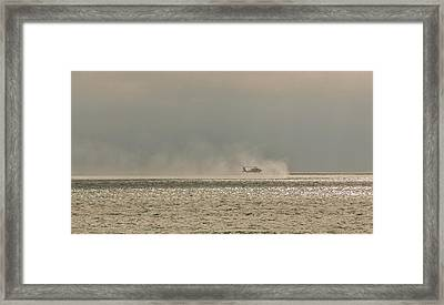 Navy Life Saving Practice Framed Print by Angela A Stanton