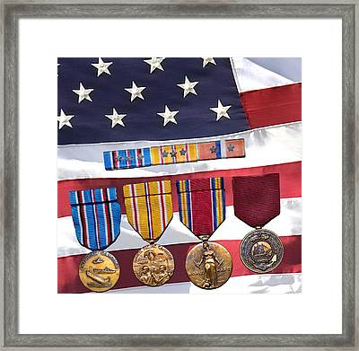 Navy Medals Framed Print by Jamieson Brown