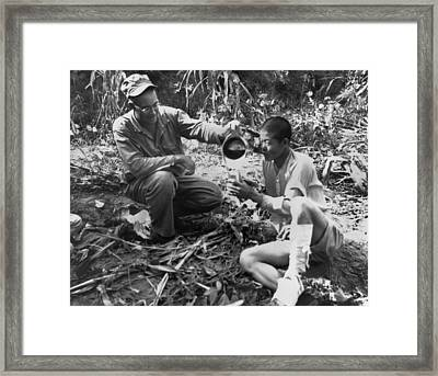 Navy Medic Assists Pow Framed Print by Underwood Archives