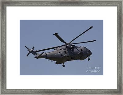 Navy Merlin Framed Print by J Biggadike