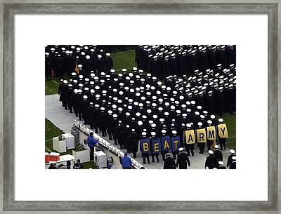 Navy Midshipmen Framed Print by Mountain Dreams