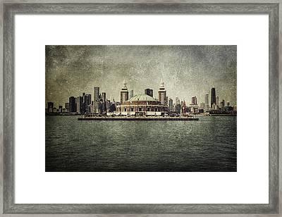 Navy Pier Framed Print by Andrew Paranavitana