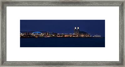 Navy Pier At Twilight Framed Print by Andrew Soundarajan