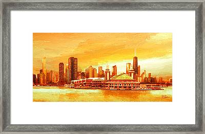 Navy Pier Chicago --autumn Framed Print by Doug Kreuger