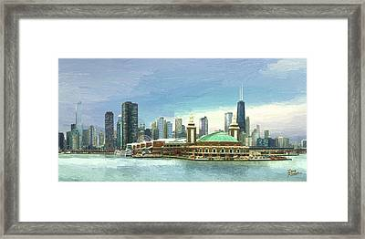Navy Pier Chicago --winter Framed Print