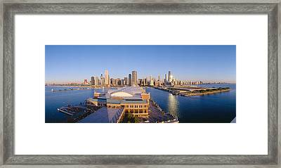 Navy Pier, Chicago, Morning, Illinois Framed Print