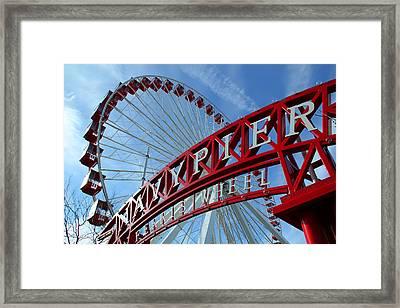 Navy Pier Ferris Wheel Framed Print by James Hammen