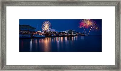 Navy Pier Fireworks Chicago I L Framed Print