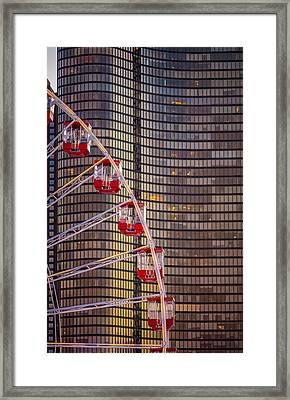 Navy Pier Wheel Chicago Framed Print by Steve Gadomski
