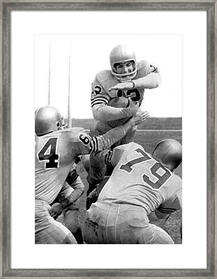 Navy Quarterback Staubach Framed Print by Underwood Archives