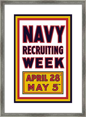 Navy Recruiting Week  Framed Print by War Is Hell Store