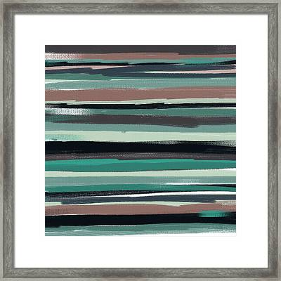 Navy Shades Framed Print by Lourry Legarde