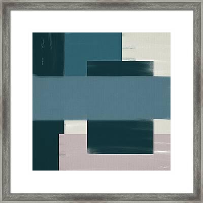 Navy Silence Framed Print by Lourry Legarde