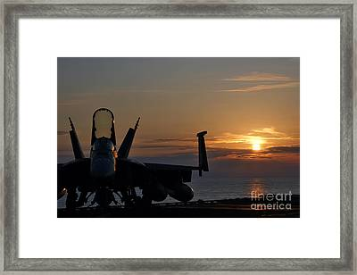 Navy Super Hornet Framed Print by John Swartz
