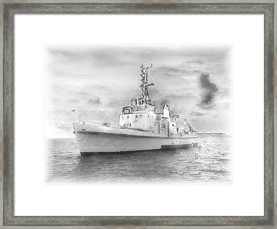 Navy Torpedo Weapons Recovery Ship Framed Print by Donnie Freeman