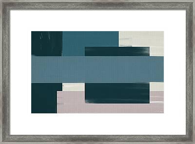 Navy Silence II Rectangular Format Framed Print by Lourry Legarde