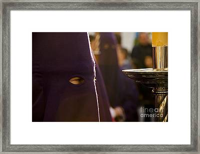 Nazareno Waiting To Start The Procession Framed Print by Perry Van Munster
