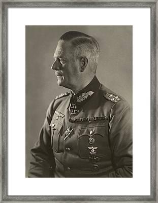 Nazi General Wilhelm Keitel Framed Print