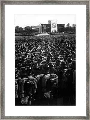Nazi Party Rally In Nuremberg, November Framed Print