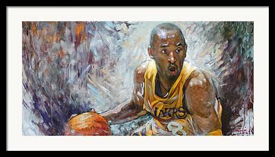 Lakers Nba Championship Framed Prints