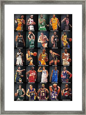 Nba Legends Framed Print by Taylan Apukovska