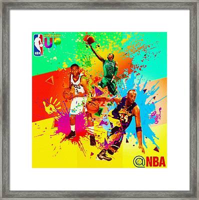 Nba Season Poster - Part 3 Framed Print by Don Kuing