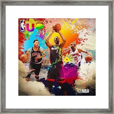 Nba Season Poster - Part 6 Framed Print by Don Kuing