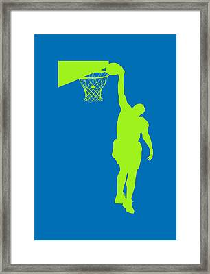 Nba Shadow Players Framed Print