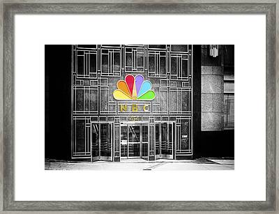Nbc Facade Selective Coloring Framed Print by Thomas Woolworth