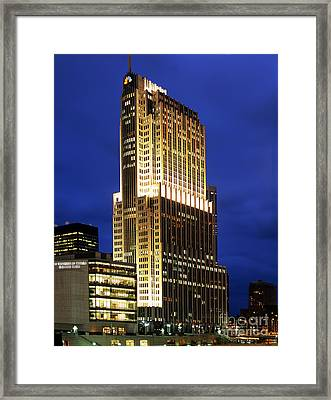 Nbc Tower Building Framed Print by Wernher Krutein
