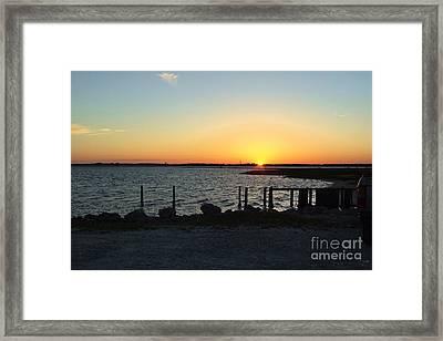 Nc Coast Sunset Framed Print