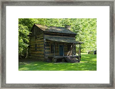 Nc Log Home  Framed Print
