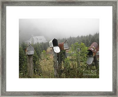 Framed Print featuring the photograph Nc Mailboxes by Valerie Reeves
