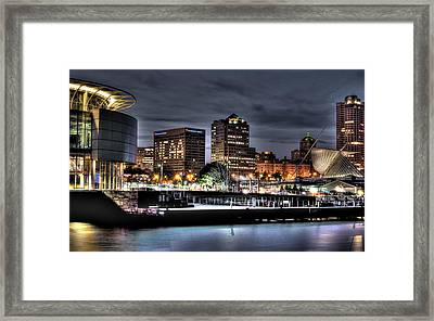 Framed Print featuring the photograph Ncaa In Lights by Deborah Klubertanz